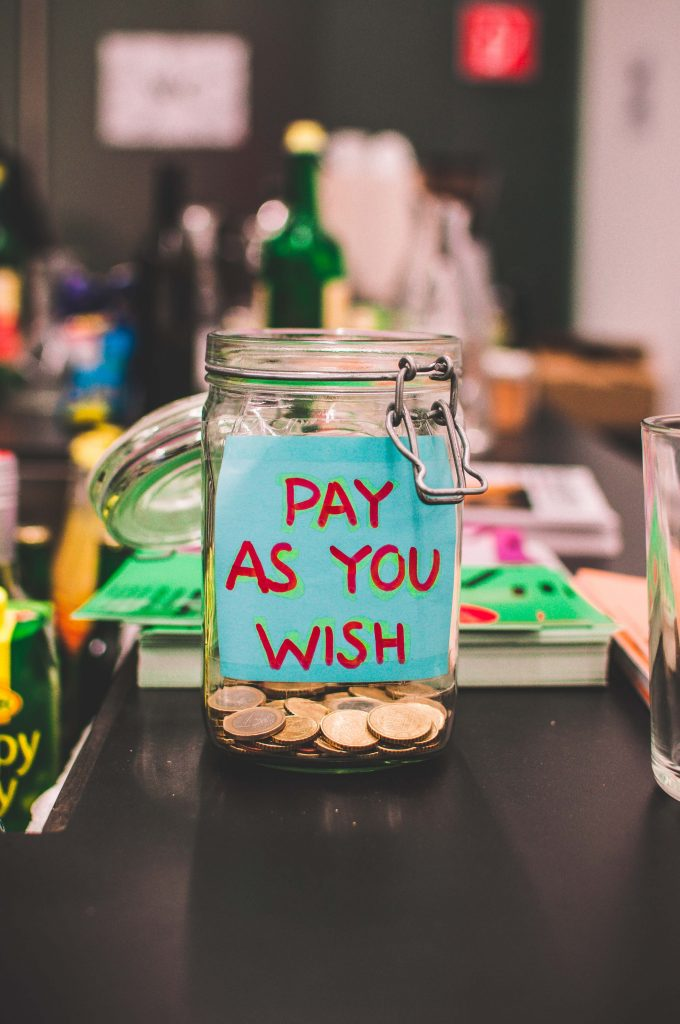 """Pay as you wish"" jar - taxes aren't optional"